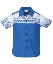 FS Mini Klub Half Sleeves Shirt Anchor Print - Blue