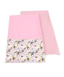 HouseThis Set Of 2 Bed Sheet - Pink