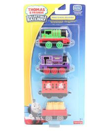 Thoms & Friends New 4-Piece Multi-pack railway red/blue green