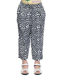 Oxolloxo Monochrome Ankle Length Pants - Black And White