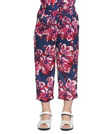 Oxolloxo Ankle Length Pants Floral Print - Multicolor