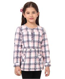 Oxolloxo Full Sleeves Top With Heart Motifs - Multicolor