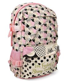 Hello Kitty School Bag Light Pink And Cream - 19 Inches