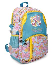 Kitty School Bag Butterfly Print Sea Green & Yellow - 19 Inches