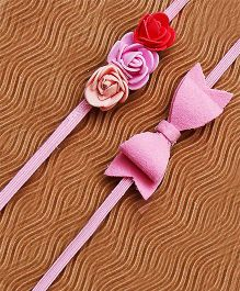 D'chica Set of 2 Springy Headbands - Pink