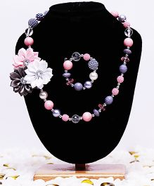 D'chica Pearl & Flowers Jewelry Set - Multicolor