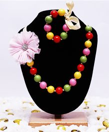 D'chica Beads & Flowers Jewelry Set - Multicolor