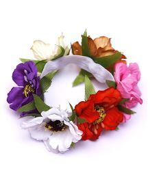 D'chica Flower Cluster Rubber Band - Multicolor