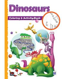 Macaw Shaped Coloring And Activity Book Dinosaurs - English