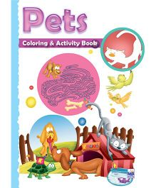 Macaw Shaped Coloring And Activity Book Pets - English