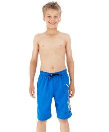 Speedo Swimming Trunks With Brand Print - Blue