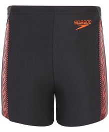 Speedo Logo Print Swimming Trunks - Black Orange