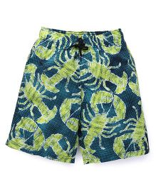 Swimming Trunks Printed - Navy Green Lime