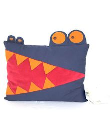 A Little Fable Crocodile Shaped Cushion - Multicolor