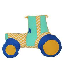 A Little Fable Tractor Shaped Cushion - Multicolor