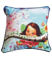 A Little Fable Little Fairy Digital Print Cushion Cover - Multicolor