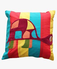 A Little Fable Turtle Cushion Cover - Multicolor