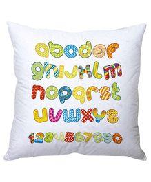Stybuzz Alphabets Cushion Cover - White