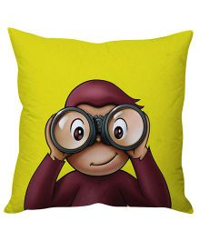 Stybuzz monkey Cushion Cover - Yellow