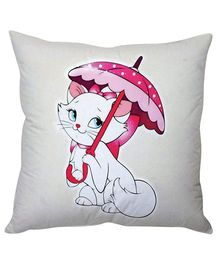 Stybuzz Pretty Kitty Cushion Cover - Off White