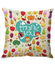 Stybuzz Thank You Cushion Cover - Multi Color