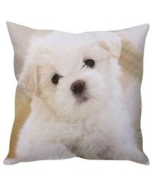 Stybuzz White Puppy Cushion Cover