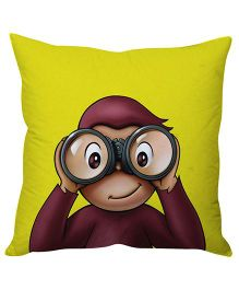 Stybuzz monkey Cushion Cover - Yellow And Brown