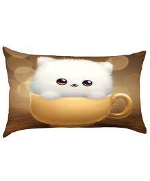 Stybuzz Kitty in Cup Baby Pillow - Brown