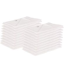 Lula Muslin Napkins Set of 20 - White