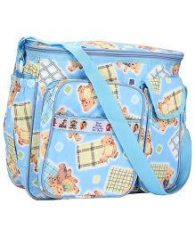 Duck Mother Bag Teddy Print - Blue