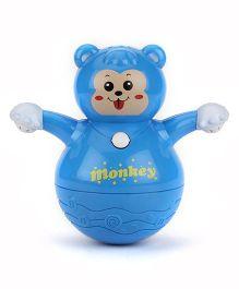 Kumar Toys Roly Poly Animal World Tumbler Monkey Toy - Blue