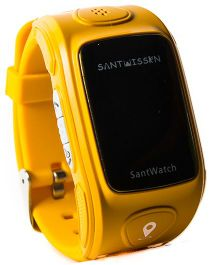 Santwissen Santwatch Kids Wearable GPS Tracker Phone Smartwatch - Yellow