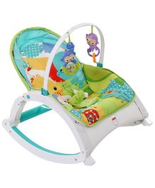 Fisher Price Rain Forest Friends Portable Rocker - Green And Blue