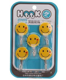 Smiley Designs Wall Hooks - Yellow