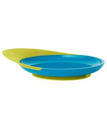 Boon Catch Plate with Suction Cup Base - Blue and Green
