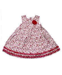 Young Birds Mini Floral Dress - Maroon