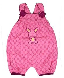Young Birds Embroidered Dungaree - Pink