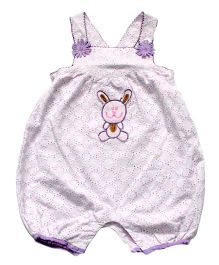 Young Birds Embroidered Dungaree - Lavender