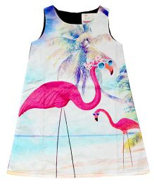 Young Birds Pool Print Dress - Multicolour