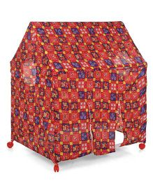 Kids Zone Play Tent House - Red/Multi Print
