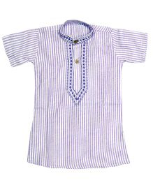 BownBee Half Sleeves Kurta - Purple