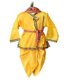 BownBee Kanhaiya Suit Set - Yellow