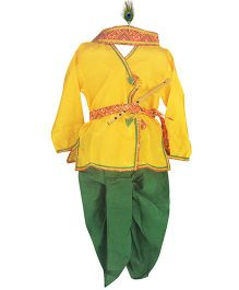 BownBee Kanhaiya Suit Set - Yellow And Green 0 6mnths