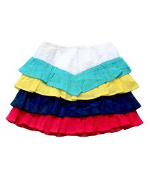 Young Birds Block Tiered Skirt - Multi Colour
