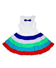 Young Birds Tiered Dress - Multicolour