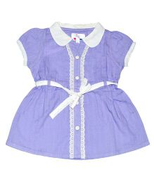 Young Birds Contrast Trim Top - Purple