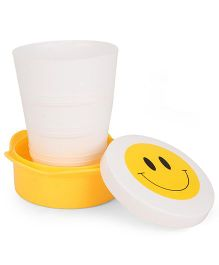 Collapsible Cup Smiley Design - White Yellow
