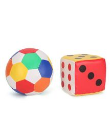 Smiles Creation Ball And Dice Soft Toy - 10 cm