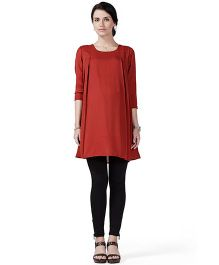 House of Napius Radiation Safe Comfortable Maternity Kurta - Rust