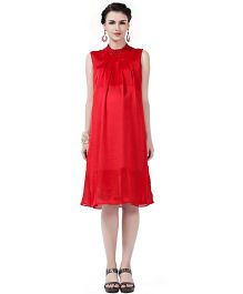 House of Napius Radiation Safe Comfortable Sleeveless Maternity Dress - Red